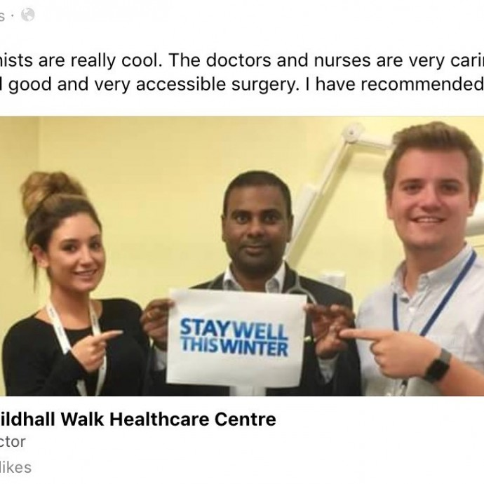 Guildhallwalk Healthcare Centre – Social Media Update